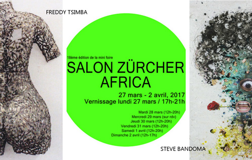 15 MARCH 2017 | Steve Bandoma and Freddy Tsimba showcased at the Salon ZÜRCHER AFRICA